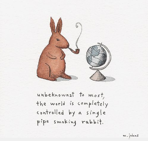 pipe smoking rabbit