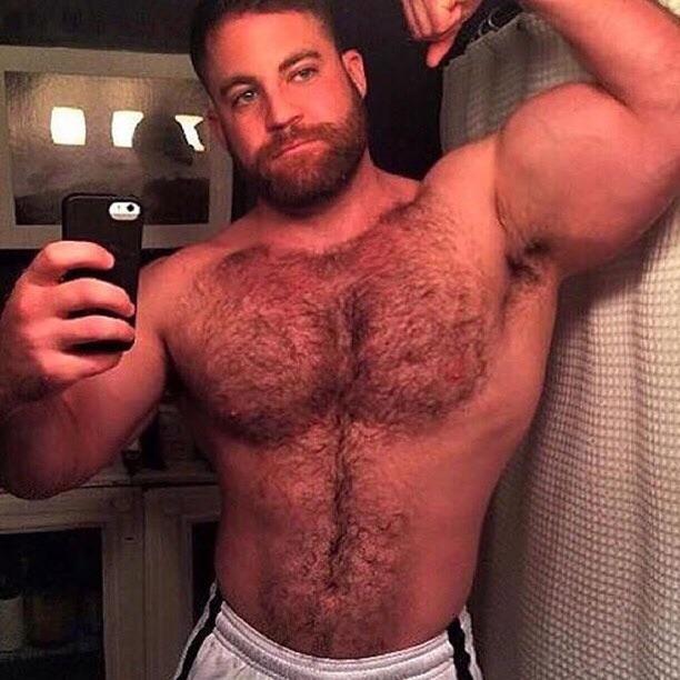 Muscle Beard Selfie