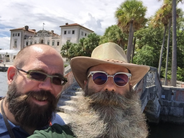 Fearsome and his buddy Raymond at Vizcaya.